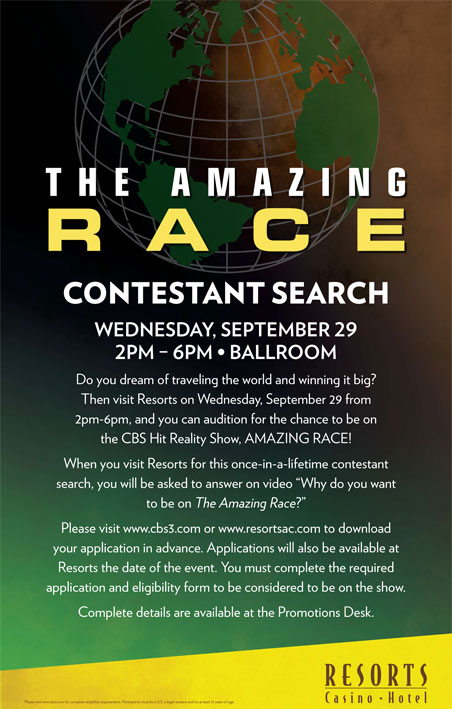 Amazing Race audition in Atlantic City