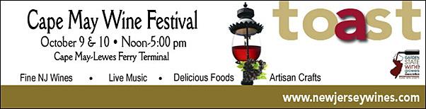 Jersey Shore Events: Cape May Wine Festival