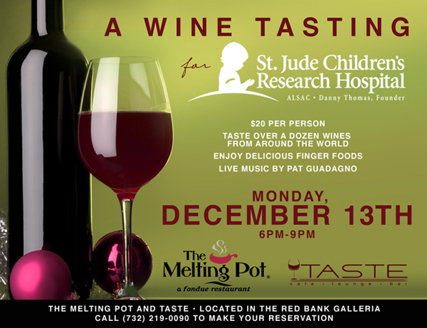 Jersey Shore Vacations: Melting Pot Wine Tasting for St. Jude Children's Hospital