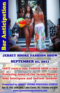 Jersey Shore Fashion Show at Bar Anticipation in Lake Como