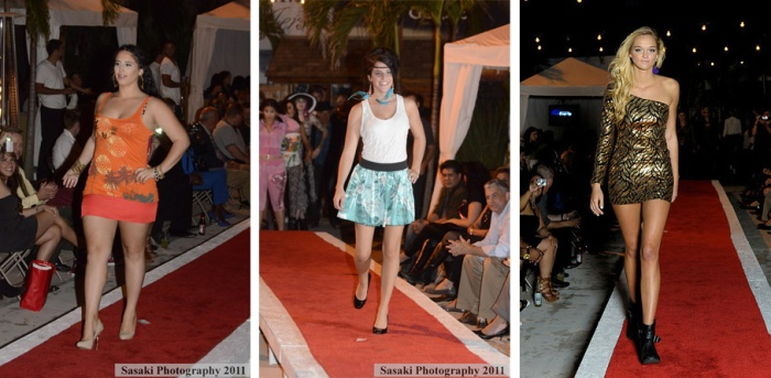 Jersey Shore Fashion Show Catwalk Models