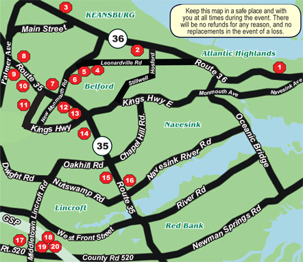 Taste of Middletown Restaurants Map