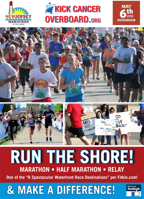 Run the New Jersey Marathon for Kick Cancer Overboard