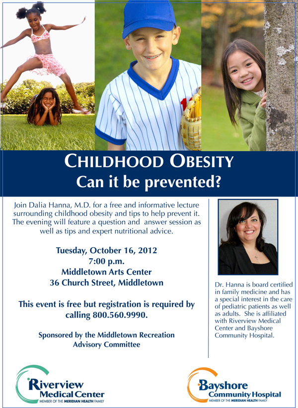 Jersey Shore Events: Childhood Obesity Seminar in Middletown