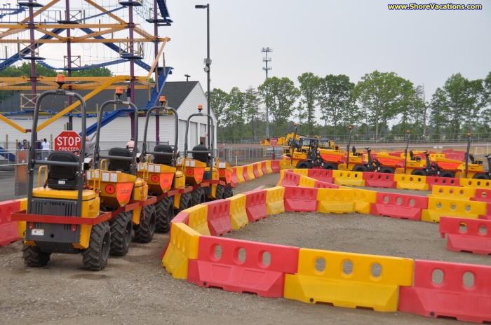 Diggerland USA Construction Vehicles