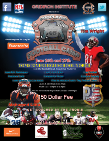 Jersey Shore Events NFL Football Camp Toms River