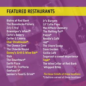 Red Bank Flavour Food Walk Restaurants
