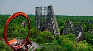 Six Flags Great Adventure New Looping Dragon Rollercoaster