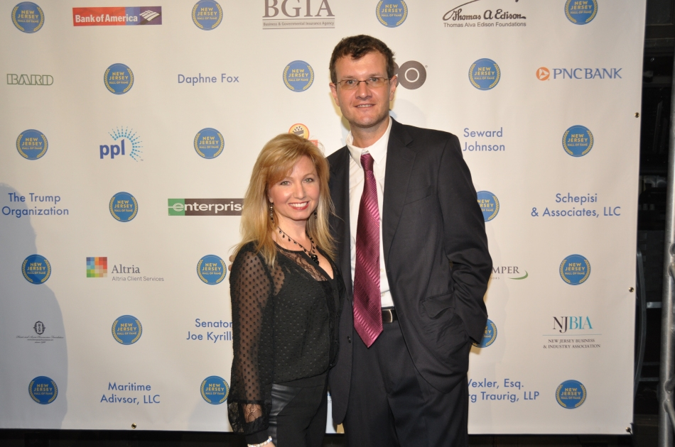 NJ Hall of Fame Red Carpet: Chris Fotache & TaraJean Vitale