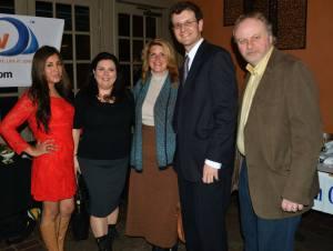 Jersey Shore Premiere Networking Serena DiMaso Bert Baron Janine Strafaci