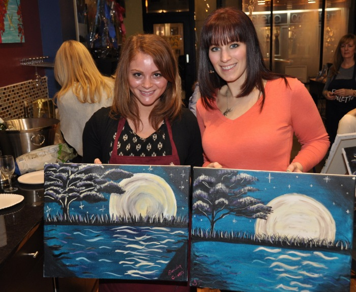 Red Bank NJ Wine Paint Art Studio Class