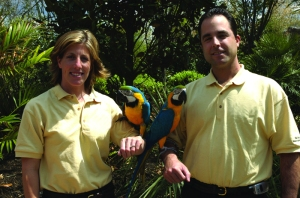Six Flags Great Adventure Macaws Jessica Dave Perenteau