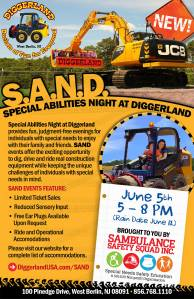 SAND Special Abilities Night at Diggerland USA
