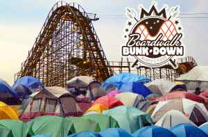 Morey's Piers Boardwalk Bunk Down Camping