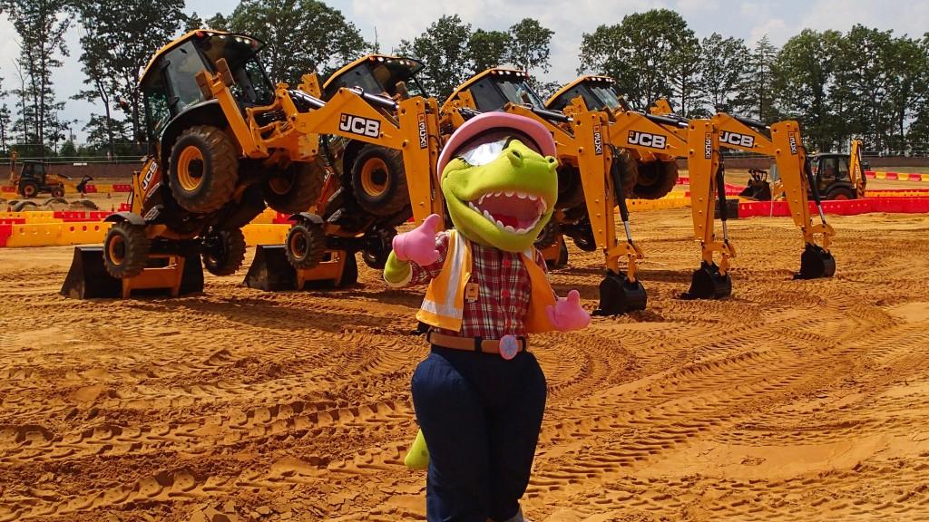 NJ USA Diggerland Dancing Diggers Show