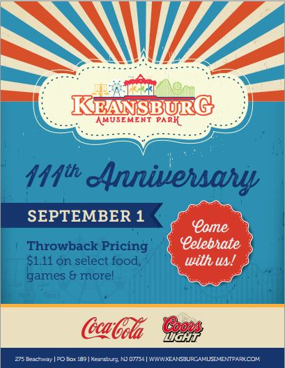 Keansburg Amusement Park 111 anniversary 2015