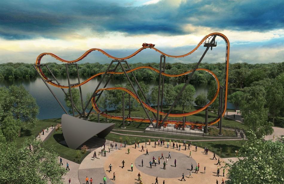 Six Flags Great Adventure New Total Mayhem Insane Rollercoaster