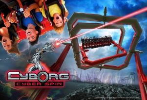 Six Flags NJ New Ride Cyborg Spin