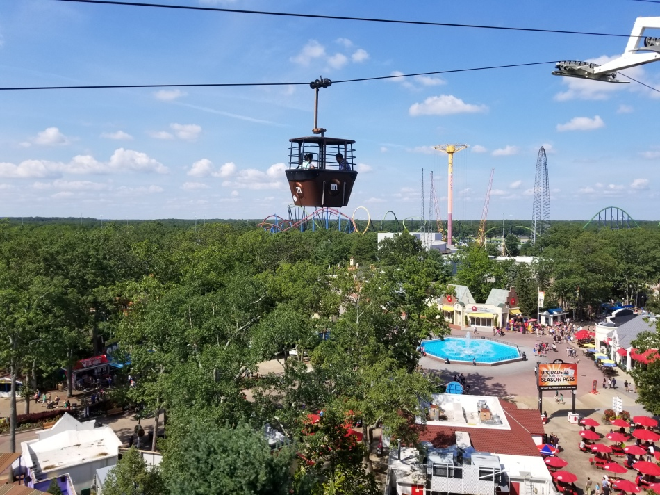 Six Flags NJ review Skyway gondola