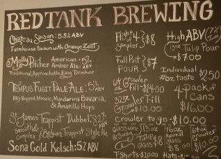 Red Tank Brewing Beers