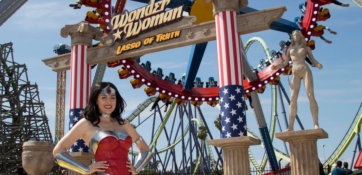 Six Flags NJ Wonder Woman Lasso of Truth new ride